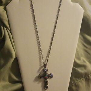 Lia Sophia Cross Pendant Necklace